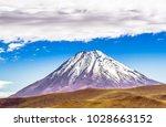 view on volcano licancabur at...   Shutterstock . vector #1028663152