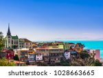 view on cityscape of historical ... | Shutterstock . vector #1028663665