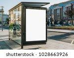 vertical blank white billboard... | Shutterstock . vector #1028663926