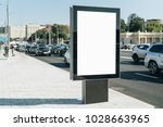vertical blank glowing... | Shutterstock . vector #1028663965