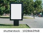 vertical blank glowing...   Shutterstock . vector #1028663968