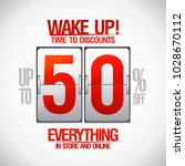 time to discounts  50  sale... | Shutterstock . vector #1028670112