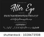 calligraphic alphabet. vector... | Shutterstock .eps vector #1028673508