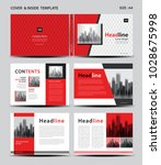red cover design and inside... | Shutterstock .eps vector #1028675998