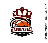 basketball queen logo vector   Shutterstock .eps vector #1028683015