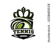 tennis queen logo vector   Shutterstock .eps vector #1028683018