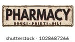 pharmacy vintage rusty metal...   Shutterstock .eps vector #1028687266