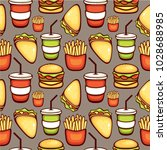 fast food vector illustration.... | Shutterstock .eps vector #1028688985
