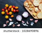 tomatoes  onions and garlic... | Shutterstock . vector #1028690896