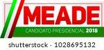 meade  jose antonio meade ... | Shutterstock .eps vector #1028695132