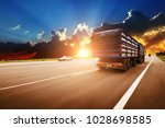 rear view of the big truck...   Shutterstock . vector #1028698585