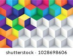 abstract background with a 3d... | Shutterstock .eps vector #1028698606