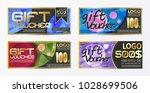 gift certificate voucher coupon ...   Shutterstock .eps vector #1028699506