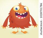 cute cartoon monster. vector ... | Shutterstock .eps vector #1028701786
