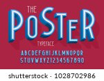 abstract 3d font  letters and... | Shutterstock .eps vector #1028702986