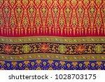 pattern style thai silk culter. ... | Shutterstock . vector #1028703175