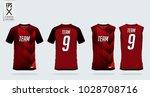 red  black t shirt sport design ... | Shutterstock .eps vector #1028708716