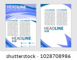 magazine cover abstract style... | Shutterstock .eps vector #1028708986