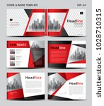 red cover design and inside... | Shutterstock .eps vector #1028710315