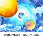 abstract power universe... | Shutterstock . vector #1028718802