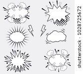 comic vector speech box set  | Shutterstock .eps vector #1028725672