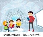 illustration of stickman kids... | Shutterstock .eps vector #1028726296