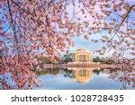 washington dc  usa in spring... | Shutterstock . vector #1028728435