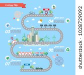 step of ecology city with town... | Shutterstock .eps vector #1028729092