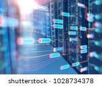 server room 3d illustration... | Shutterstock . vector #1028734378