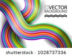 abstract digital rainbow style... | Shutterstock .eps vector #1028737336