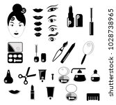 beauty and make up vector black ... | Shutterstock .eps vector #1028738965