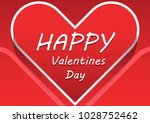 red paper hearts valentines day ... | Shutterstock .eps vector #1028752462