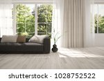 idea of white room with sofa... | Shutterstock . vector #1028752522