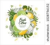 fresh citrus design template.... | Shutterstock .eps vector #1028756152
