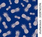vector pineapple seamless can...   Shutterstock .eps vector #1028760196