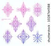 sacred geometry tattoo set.... | Shutterstock .eps vector #1028764588