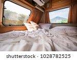 inside of a camper van - stock photo
