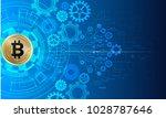 abstract technology bitcoin...   Shutterstock .eps vector #1028787646