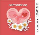 happy mother's day.floral... | Shutterstock .eps vector #1028797696