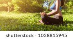 yoga woman. concept of healthy... | Shutterstock . vector #1028815945