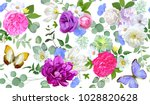 spring seamless pattern with... | Shutterstock .eps vector #1028820628
