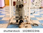 equipment and machines at the... | Shutterstock . vector #1028832346