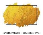 gold brush stoke texture on... | Shutterstock .eps vector #1028833498