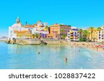 sitges  spain   june 14  2017   ... | Shutterstock . vector #1028837422