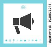 speaker  bullhorn icon | Shutterstock .eps vector #1028838295
