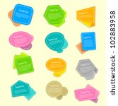 vector illustration of set of... | Shutterstock .eps vector #102883958