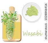 wasabi japanese horseradish... | Shutterstock .eps vector #1028846416