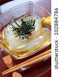 Small photo of tokoroten, gelidium jelly, japanese summer food