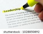 leadership word highlighted in... | Shutterstock . vector #1028850892