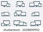responsive digital devices... | Shutterstock .eps vector #1028850952